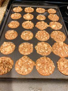 apple oatmeal mini muffins baking