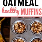 banana chocolate chip oatmeal muffin recipe pin