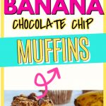 banana chocolate chip muffins pin