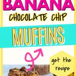banana chocolate chip muffins pin 3