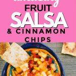 fruit salsa and cinnamon chips pin