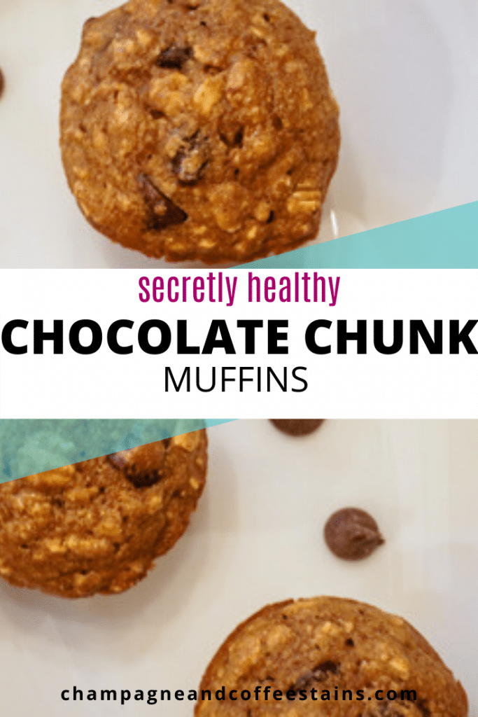 chocolate chip muffin pinterest image