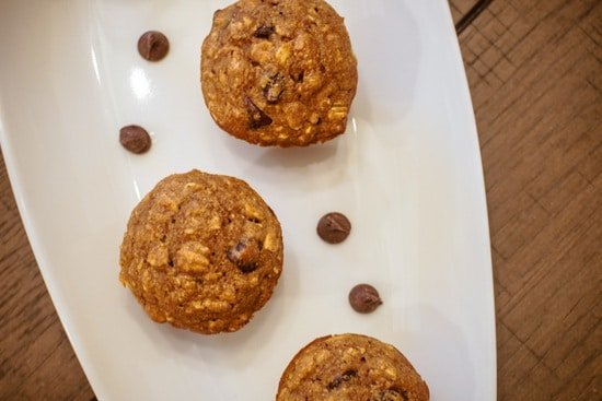 overhead chocolate chip muffins
