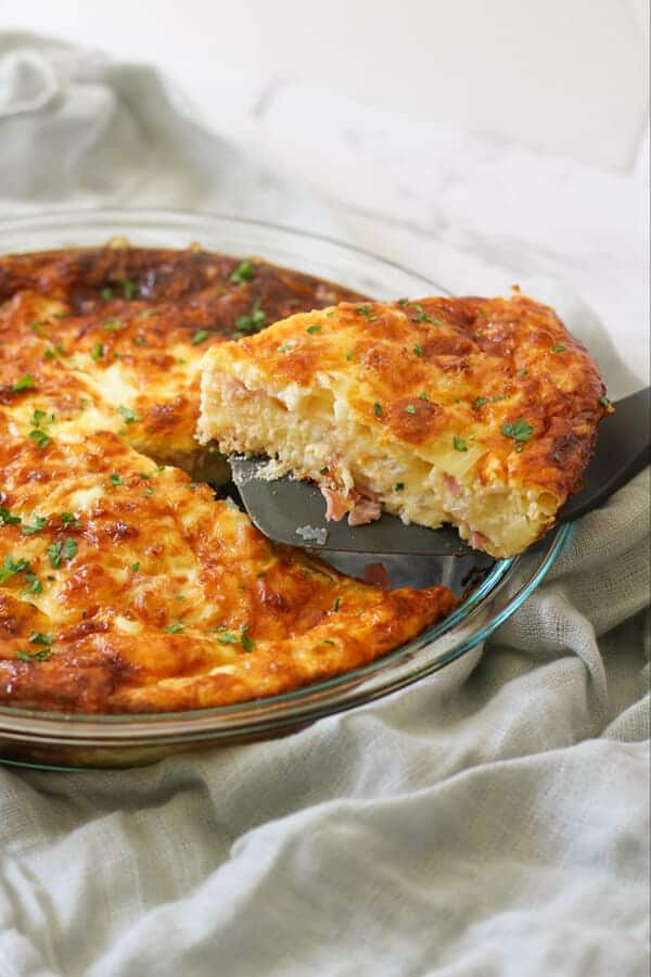 crustless ham and cheese quiche