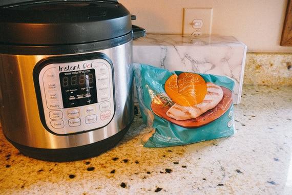 instant pot shredded chicken ingredients frozen chicken instant pot