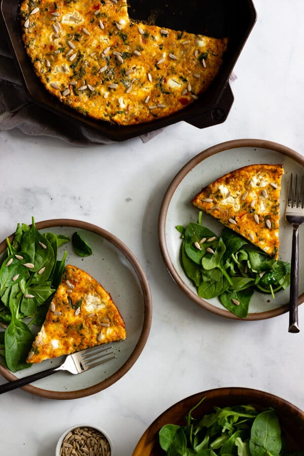 Plated baked frittata