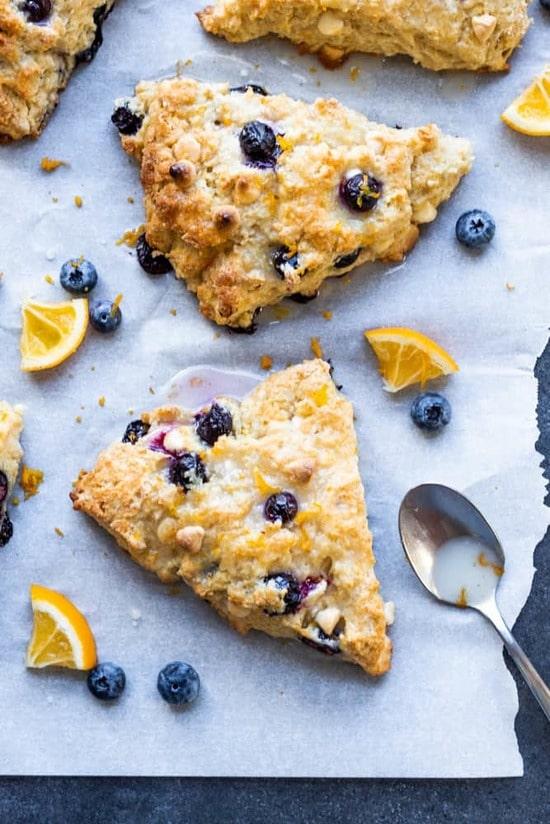 blueberry scone closeup