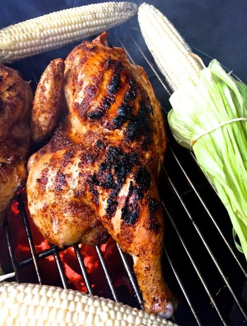 grilled chicken on a grill