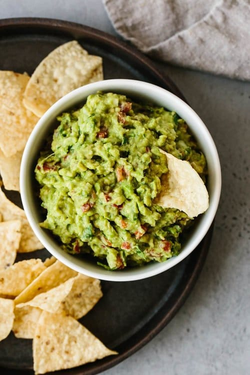 guacamole in white for bowl memorial day party