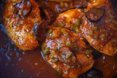 close up of moroccan chicken