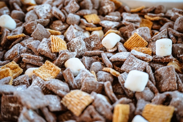 close up of s'mores puppy chow