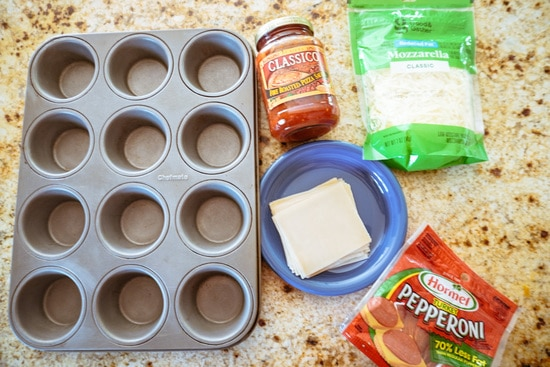 pizza cupcakes  ingredients