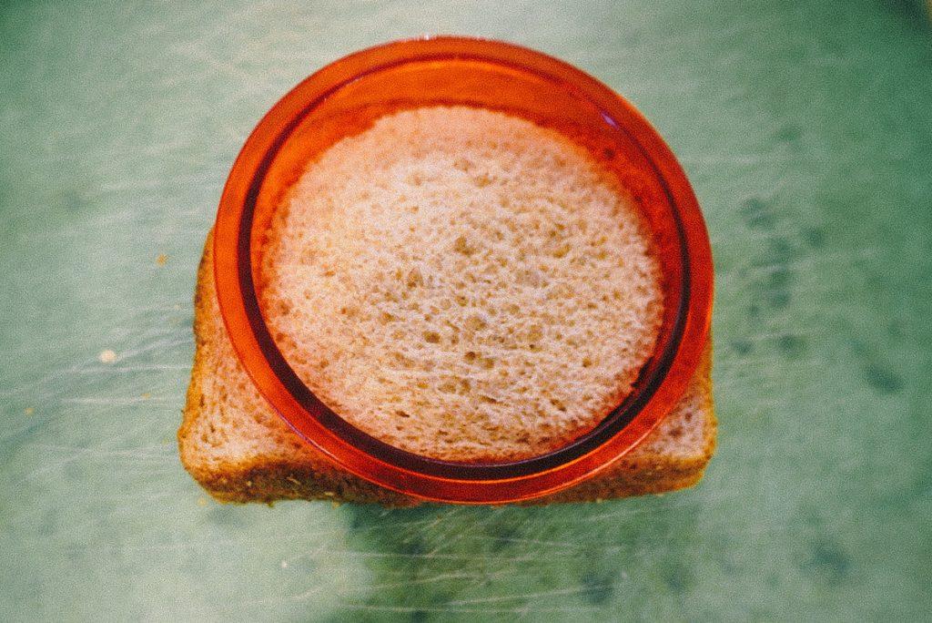 sandwich cutter on top of sandwich