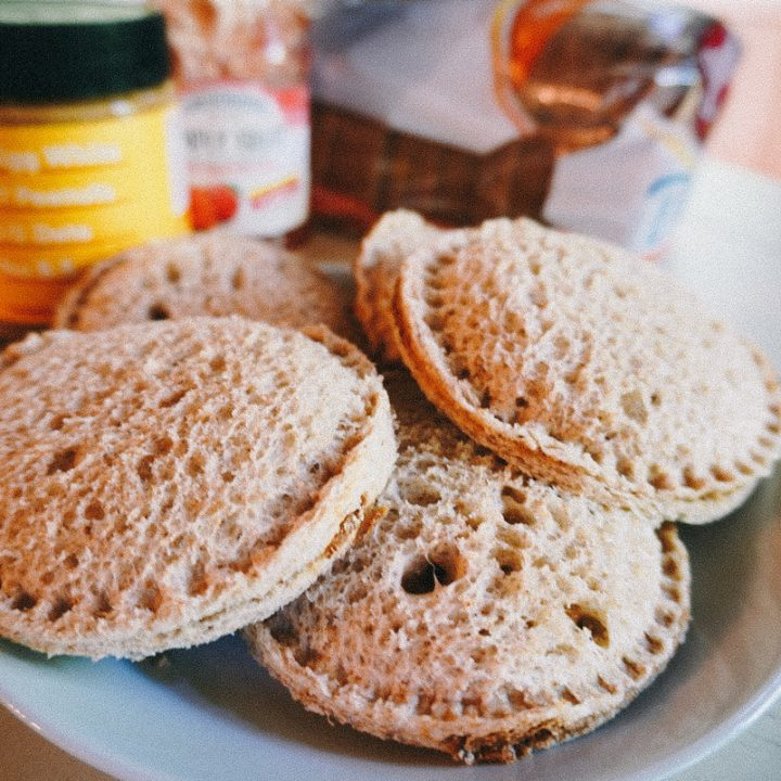uncrustable sandwiches on a plate
