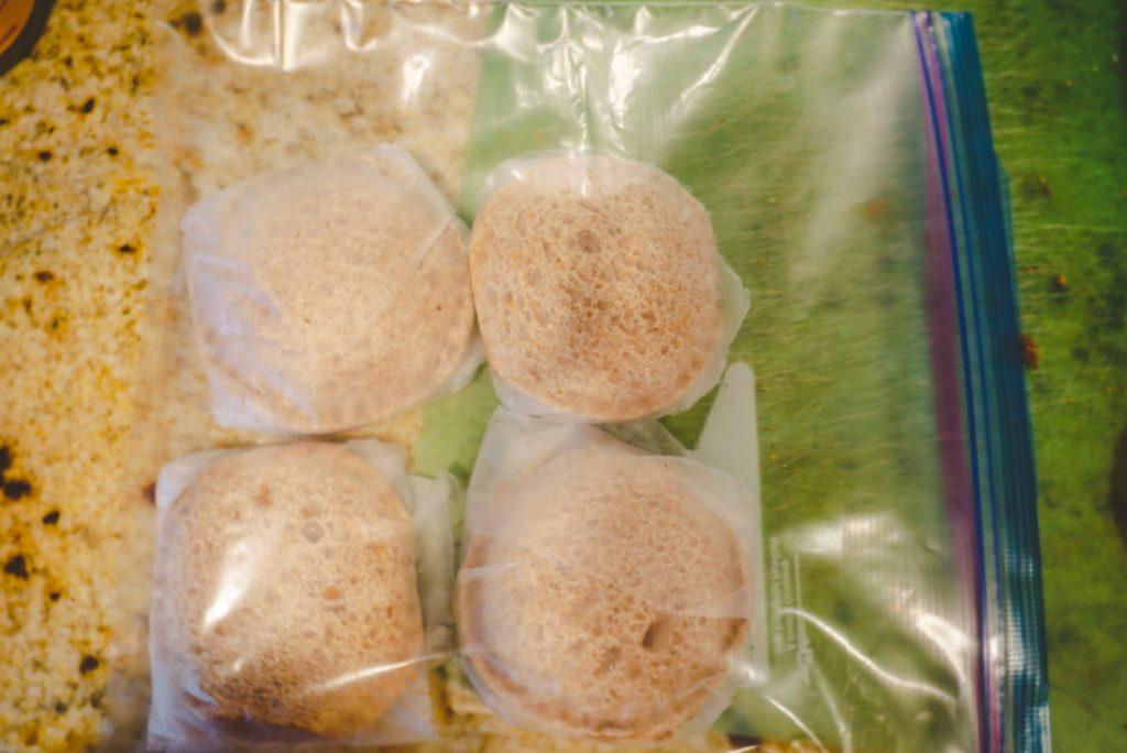 uncrustables in a freezer bag
