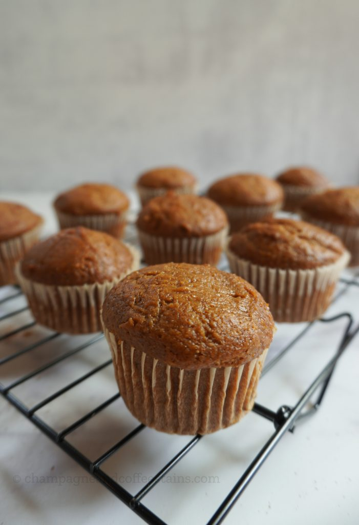 muffins on a cooling tray