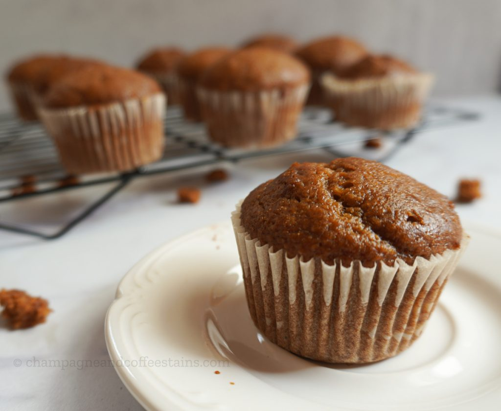 muffin on a white plate