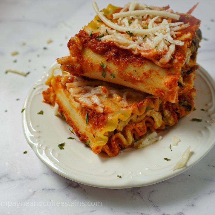 Vegan Lasagna Roll Ups