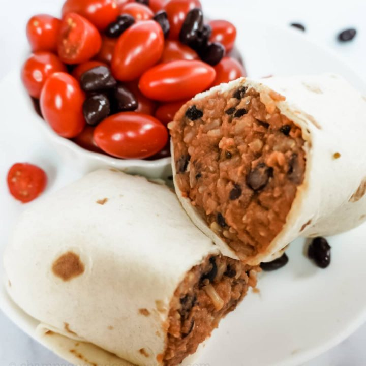 Bean And Rice Burritos Quick And Easy Recipe Vegan