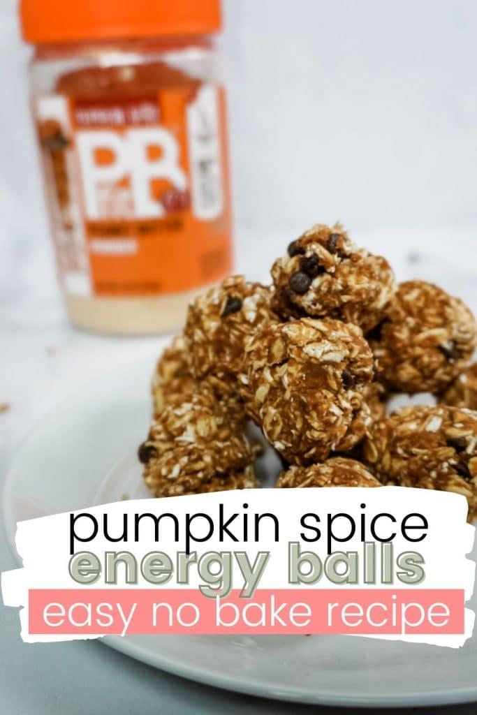 pumpkin spice energy balls pinterest pin