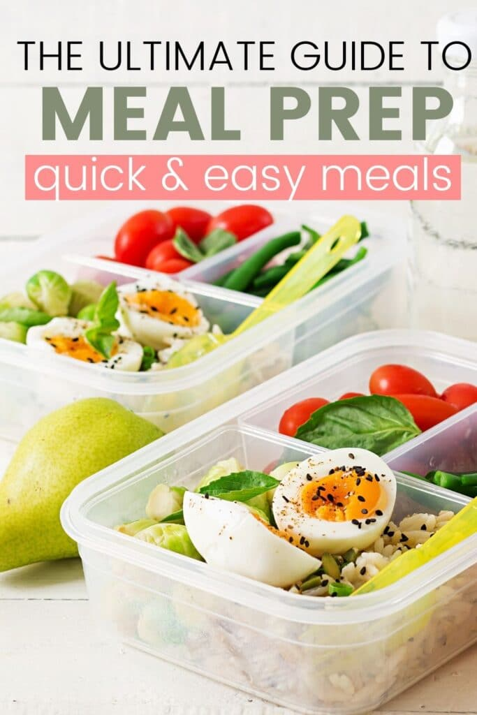 how to meal prep pinterest pin
