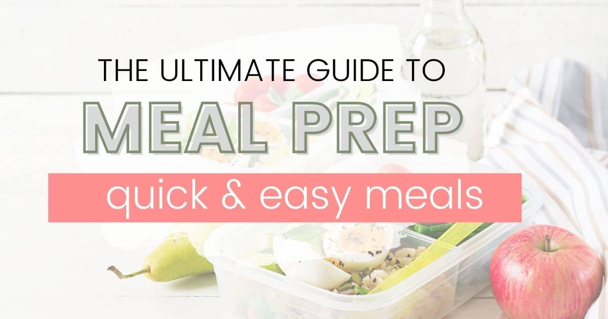 meal prep social image