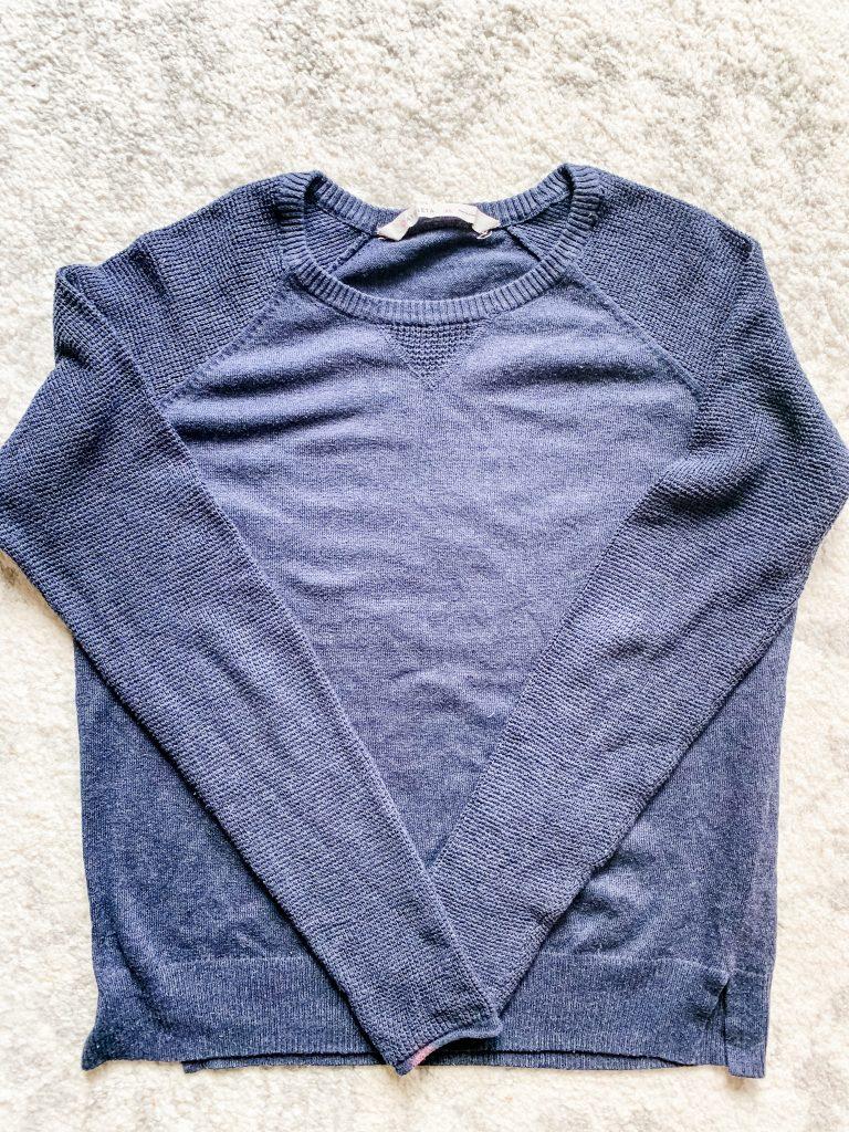 blue athleta sweatshirt