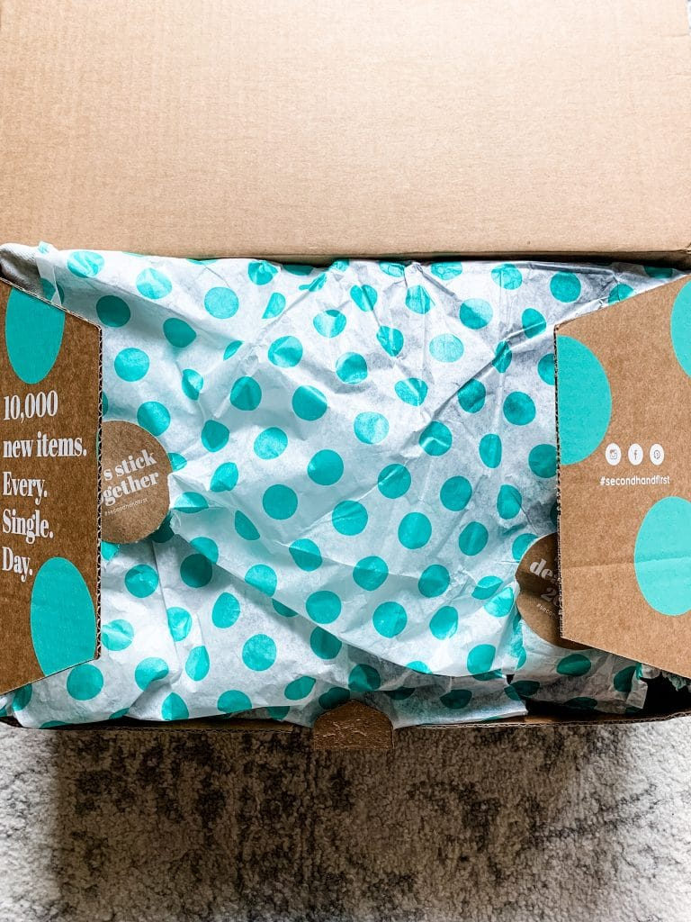 thredup goody box with wrapping