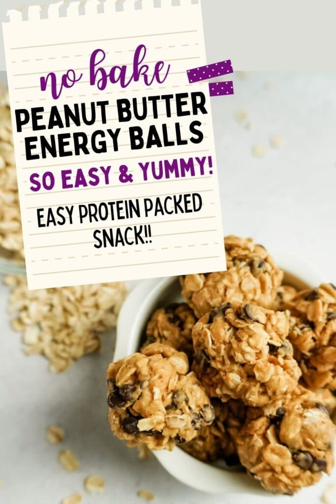 peanut butter energy balls pinterest pin