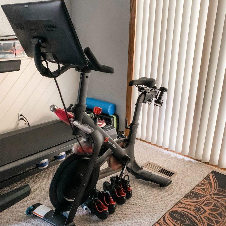 peloton bike in my home gym