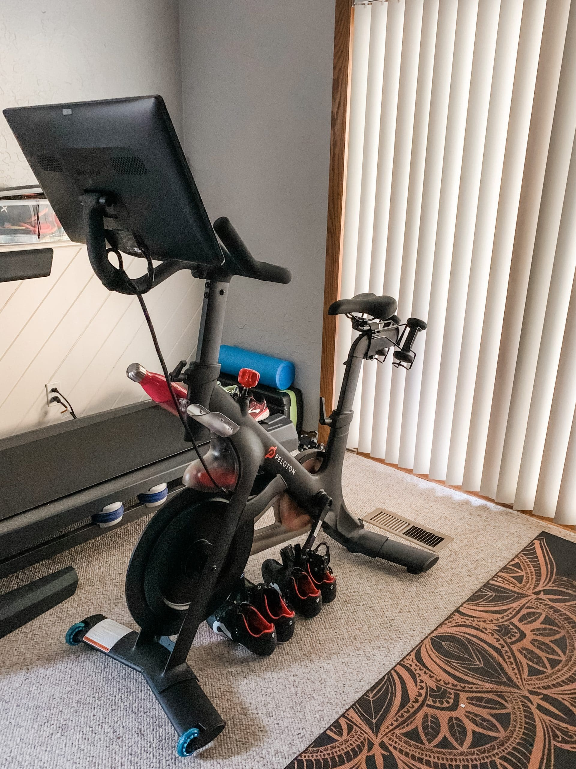 peloton bike in my home gym