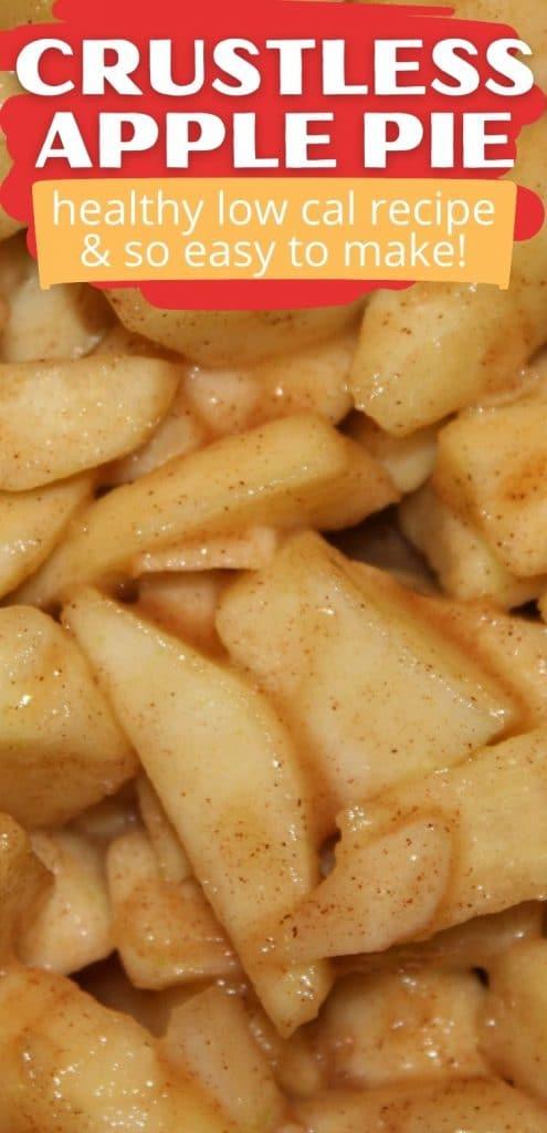Crustless apple pie pinterest pin