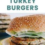 baked turkey burger pinterest pin