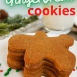 vegan gingerbread cookie recipe pinterest pin