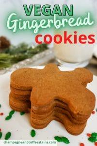 vegan gingerbread cookie pinterest pin