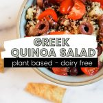 greek quinoa salad pinterest pin