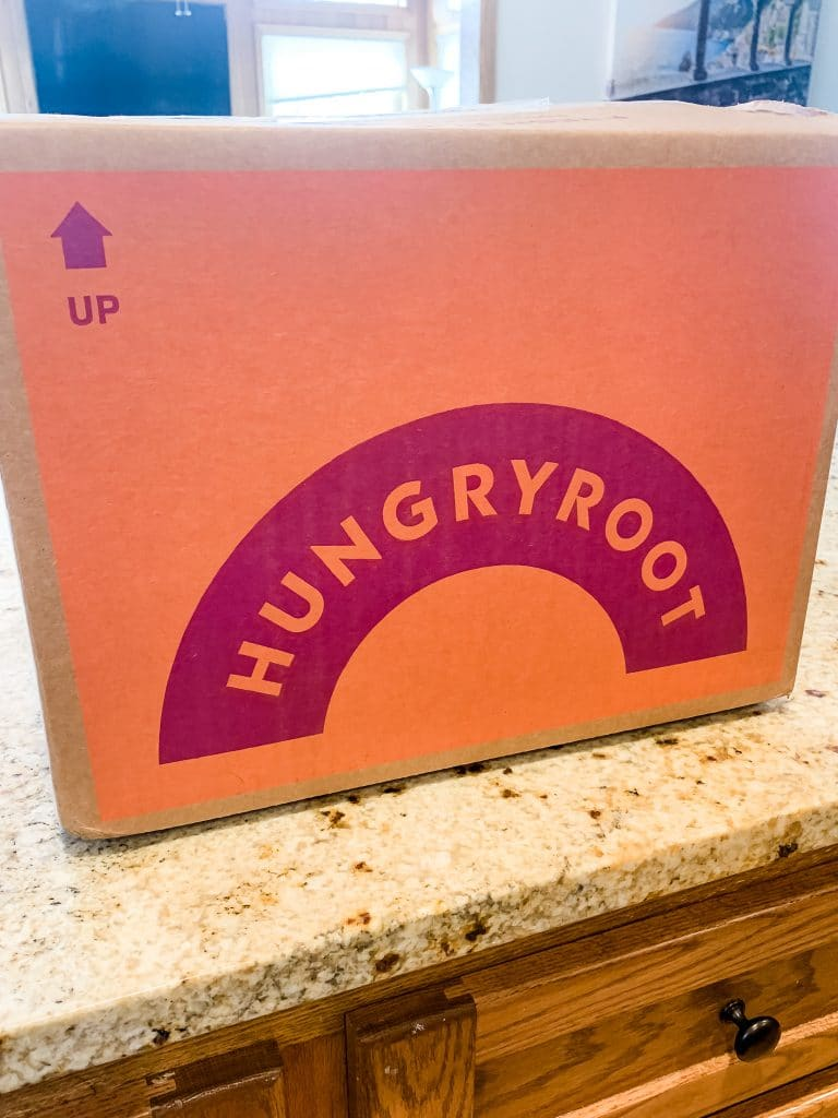 hungryroot box on a counter