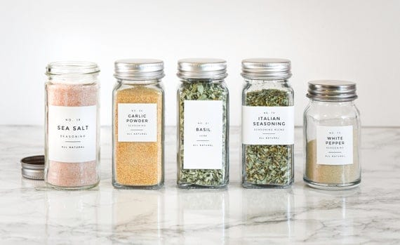 Modern Spice Labels