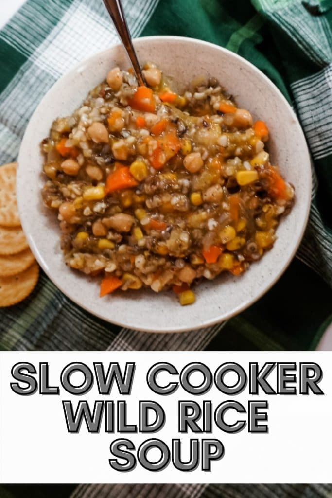 slow cooker wild rice soup pinterest pin