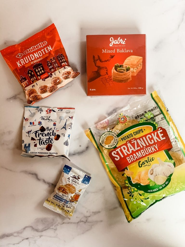 second batch of snacks inside the universal yums snack box