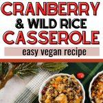 butternut squash and wild rice casserole pinterest pin