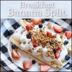 breakfast banana split pinterest pin