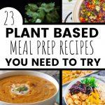 vegan plant based meal prep recipes roundup pinterest pin