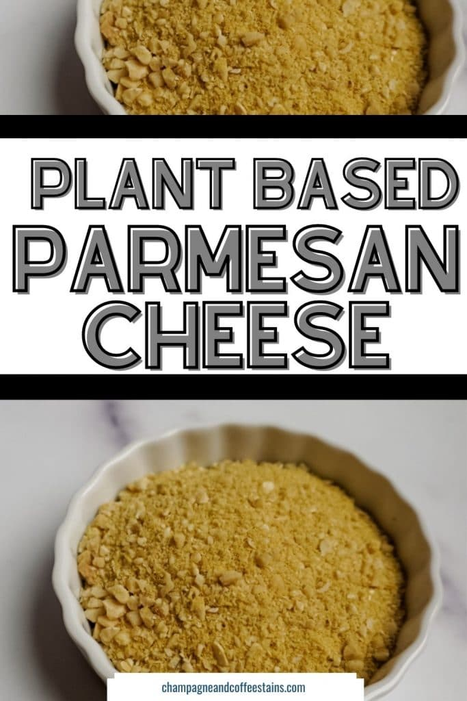 vegan parmesan cheese pinterest pin
