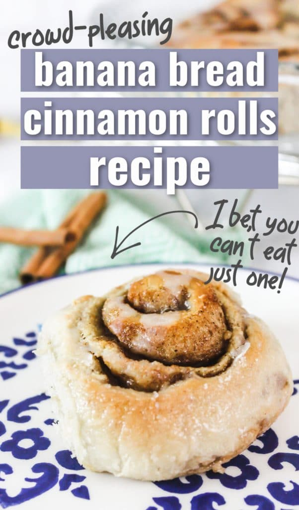 banana bread cinnamon roll pinterest pin