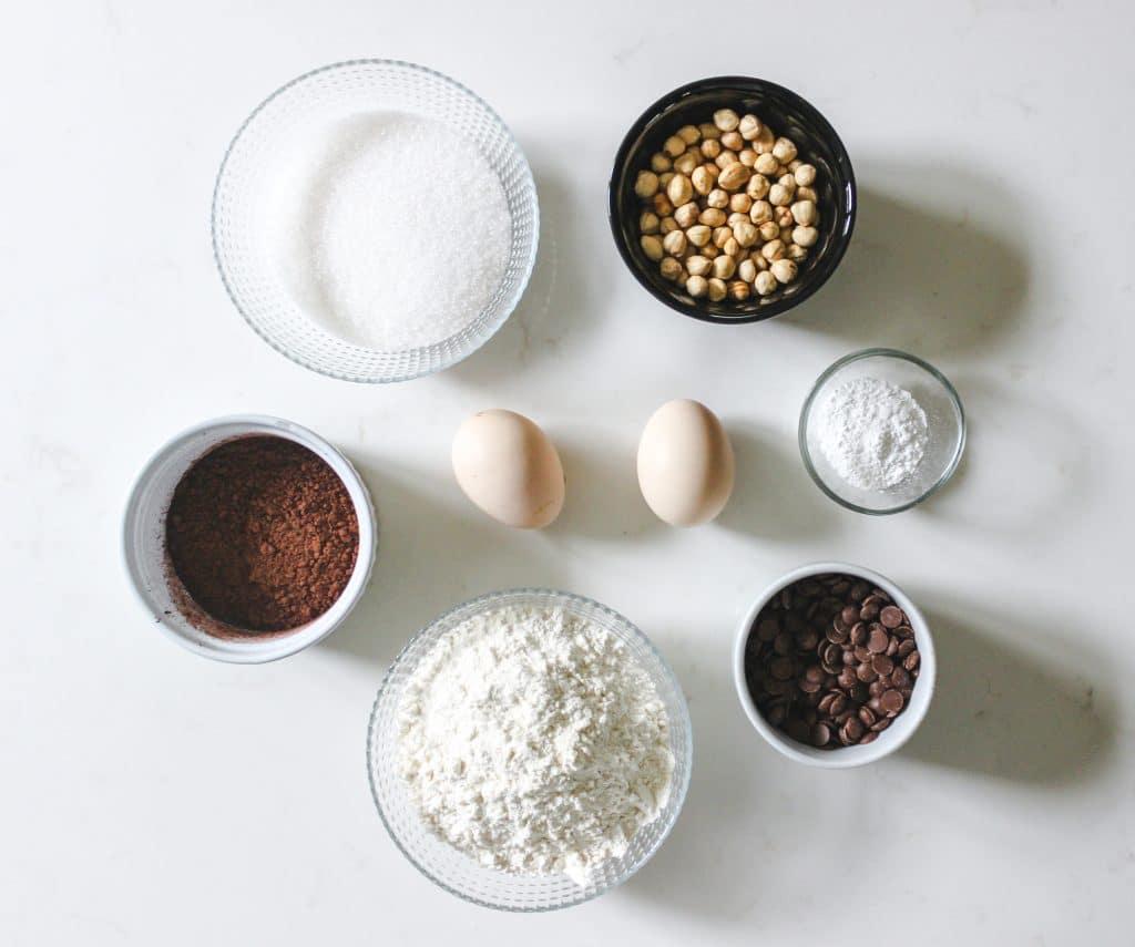 chocolate macadamia biscotti cookie ingredients