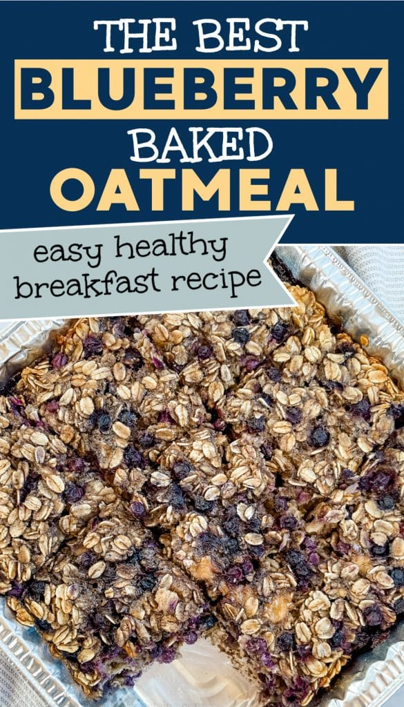 blueberry baked oatmeal with bananas pinterest pin