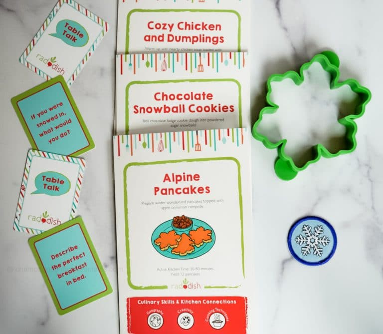 inside the raddish kids snowed inn subscription box