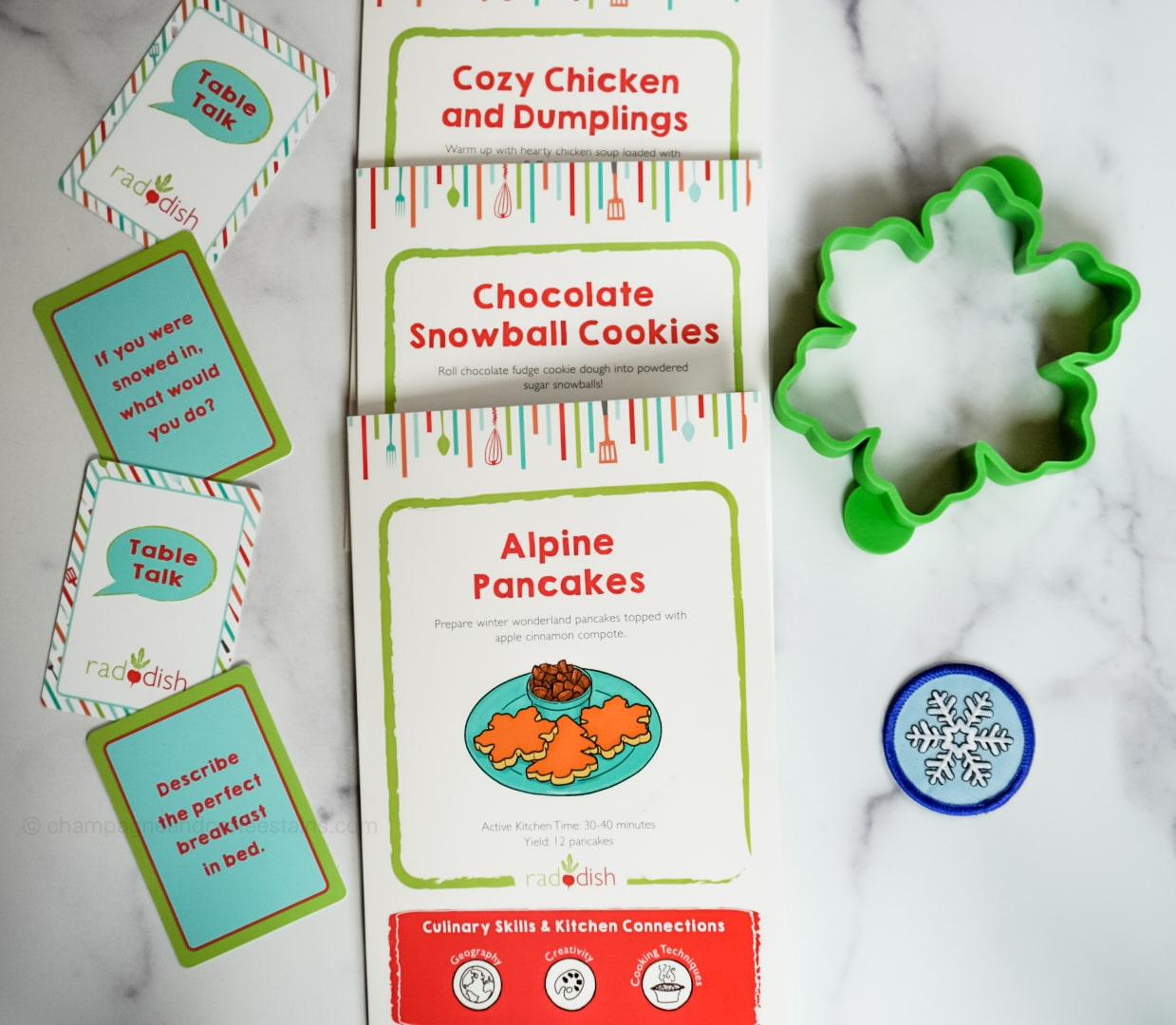 inside the raddish kids snowed inn subscription box
