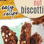 chocolate macadamia nut biscotti pinterest pin